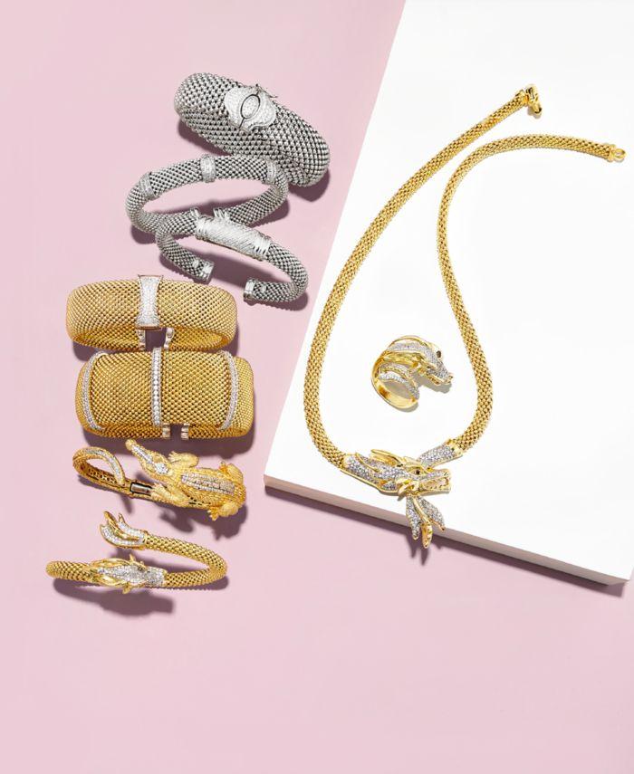 Macy's Diamond Textured Bracelet in Sterling Silver (1/2 ct. t.w.) & Reviews - Bracelets - Jewelry & Watches - Macy's