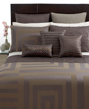 Hotel Collection Columns Full Queen Duvet Cover Bedding