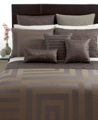 Hotel Collection Columns King Duvet Cover