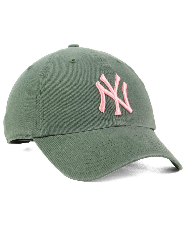 '47 Brand New York Yankees Moss Pink CLEAN UP Cap & Reviews - Sports Fan Shop By Lids - Men - Macy's