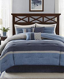 Madison Park Collins 7-Pc. Faux-Suede California King Comforter Set