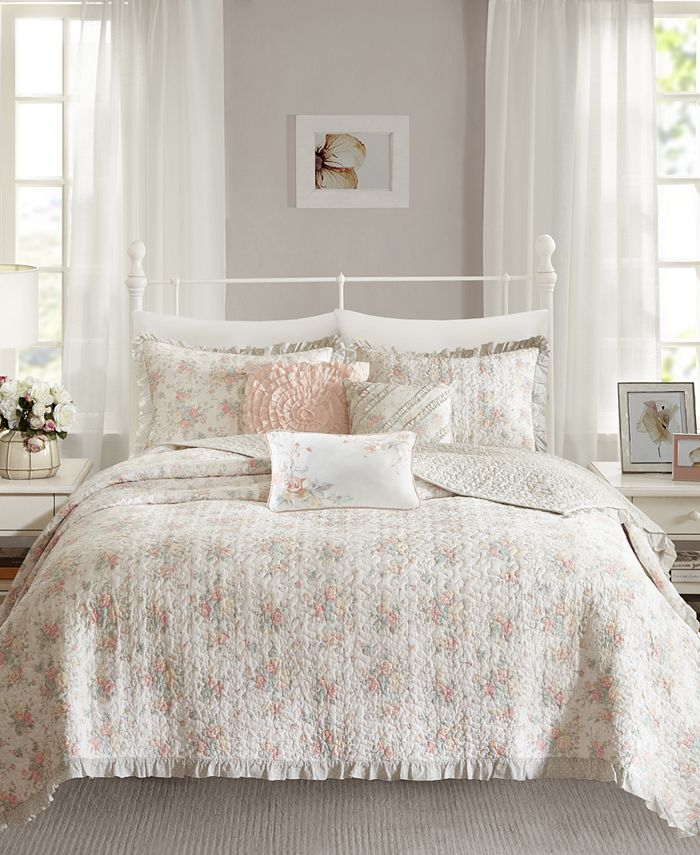 Madison Park - Serendipity Cotton 6-Pc. Full/Queen Coverlet Set