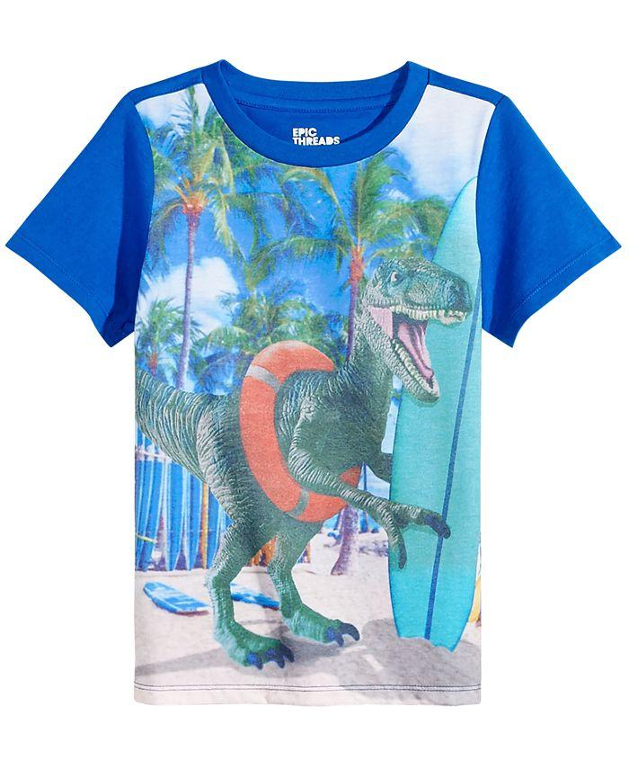 Epic Threads - Dino-Print Cotton T-Shirt, Little Boys