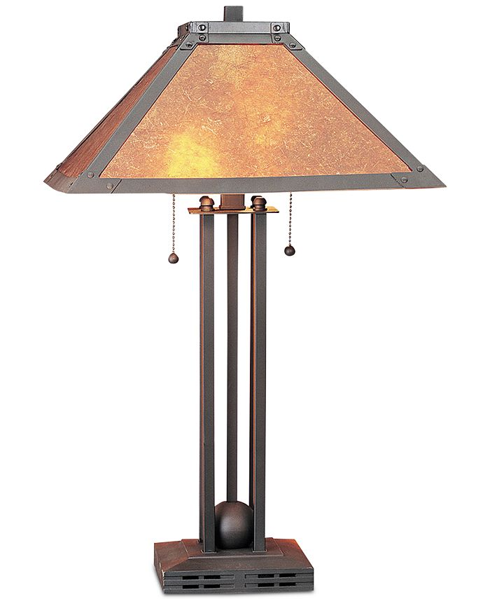 Cal Lighting - 60W 2-Light Table Lamp with Mica Shade