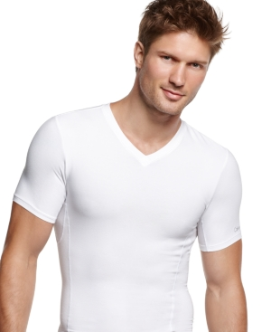 Calvin Klein Mens Body Shaper, Core Sculpt V Neck T Shirt