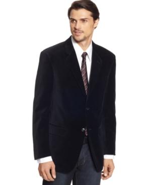 Alfani Jacket, Plush Velvet Blazer