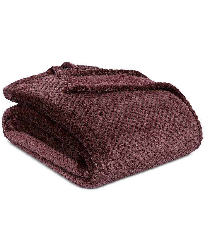 """Berkshire - Shimmersoft Textured Honeycomb 90"""" x 90"""" Bed Blanket"""