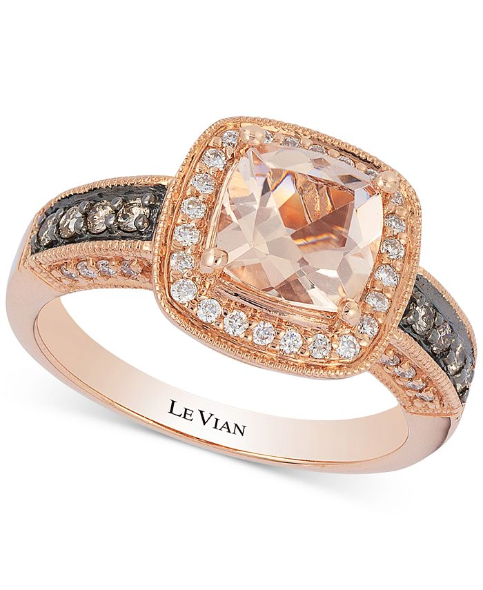 Le Vian - Peach Morganite™ (1 ct. t.w.) & Diamond (1/3 ct. t.w.) Ring in 14k Rose Gold