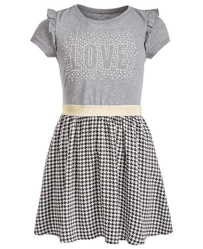 Epic Threads - Big Girls Layered-Look Graphic-Print Dress