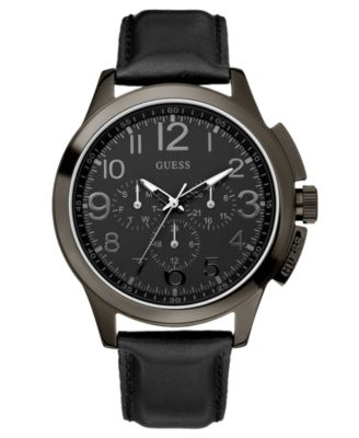 guess s black silicone 46mm u0063g1