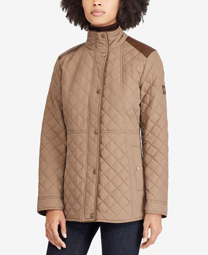 Lauren Ralph Lauren - Faux-Leather-Trim Quilted Coat