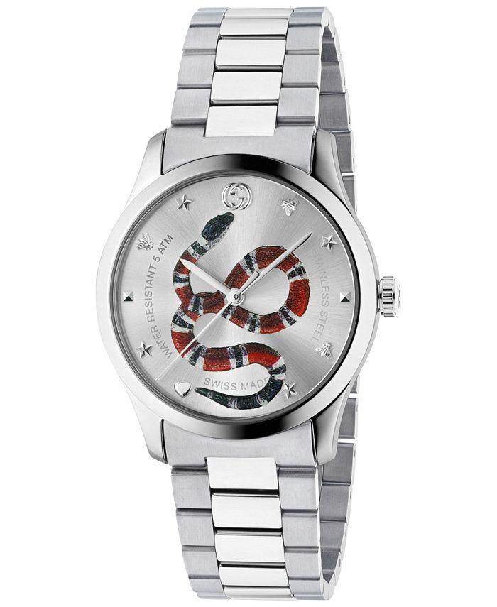 Gucci - Men's Swiss G-Timeless Stainless Steel Bracelet Watch 38mm