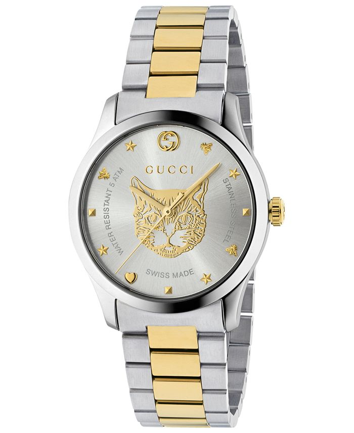 Gucci - Men's Swiss G-Timeless Two-Tone Stainless Steel Bracelet Watch 38mm