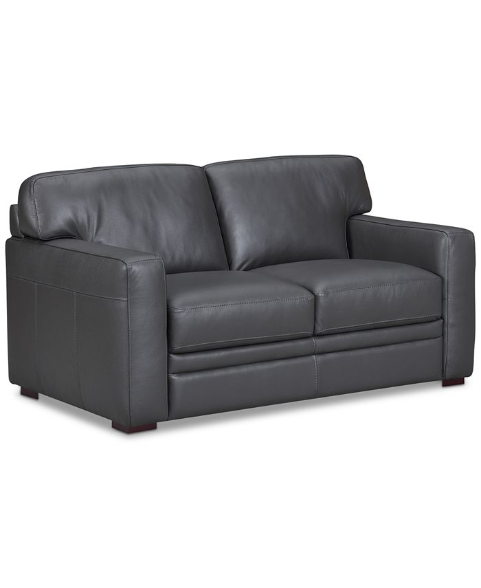 """Furniture - Avenell 62"""" Leather Loveseat"""