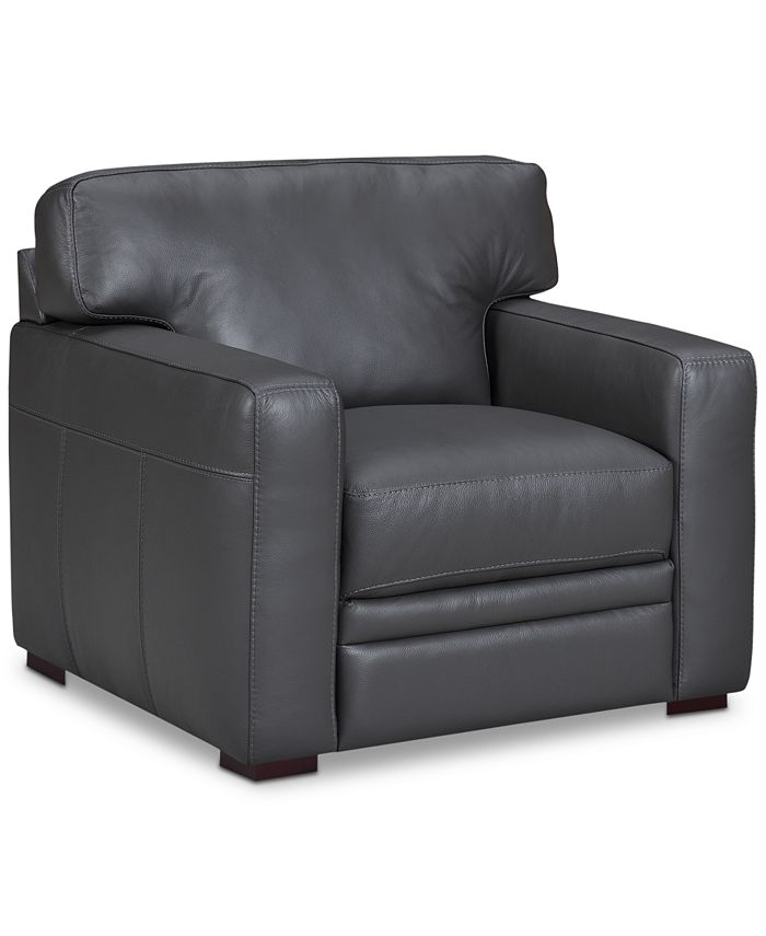 """Furniture - Avenell 39"""" Leather Armchair"""