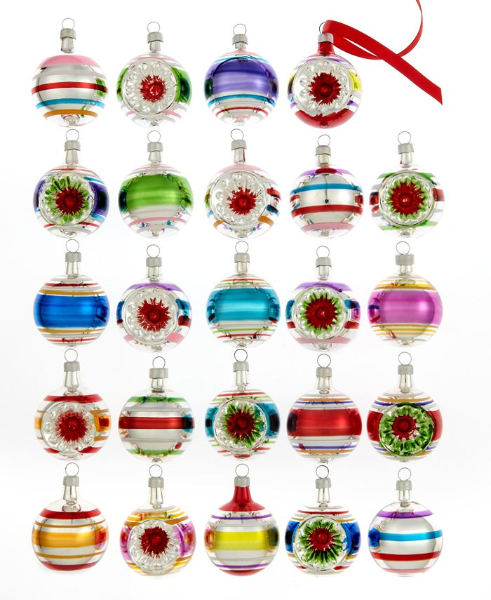 Kurt Adler - Set of 24 Early Years Mini Ball Ornaments