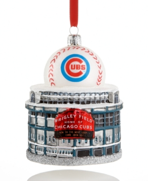 Kurt Adler Christmas Sports Ornament, Chicago Cubs Wrigley Field