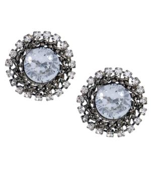Betsey Johnson Earrings, Crystal Burst Stud Earrings