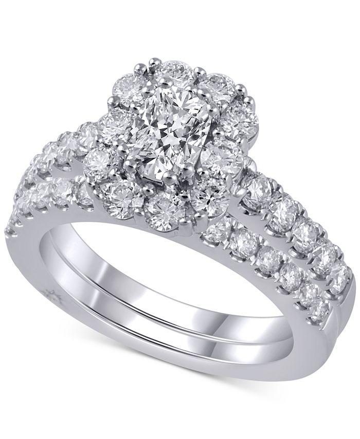 Marchesa - Diamond Bridal Set (2 ct. t.w.) in 18k White Gold