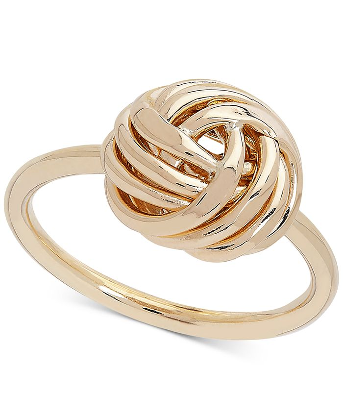 Italian Gold - Love Knot Ring in 14k Gold