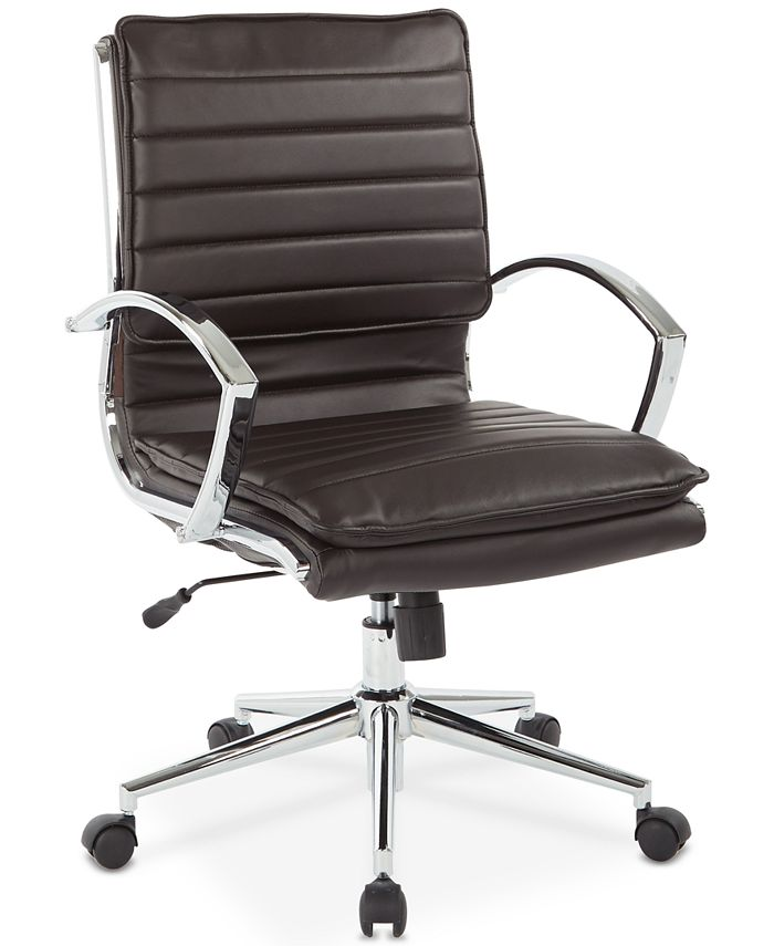 Office Star - Pyppa Faux-Leather Chair, Quick Ship