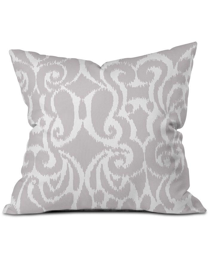 Deny Designs - Khristian A Howell Quiet Gray Eloise Throw Pillow