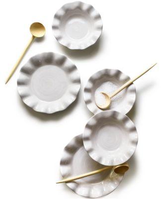 by Laura Johnson Signature Ruffle White Dinner Plate