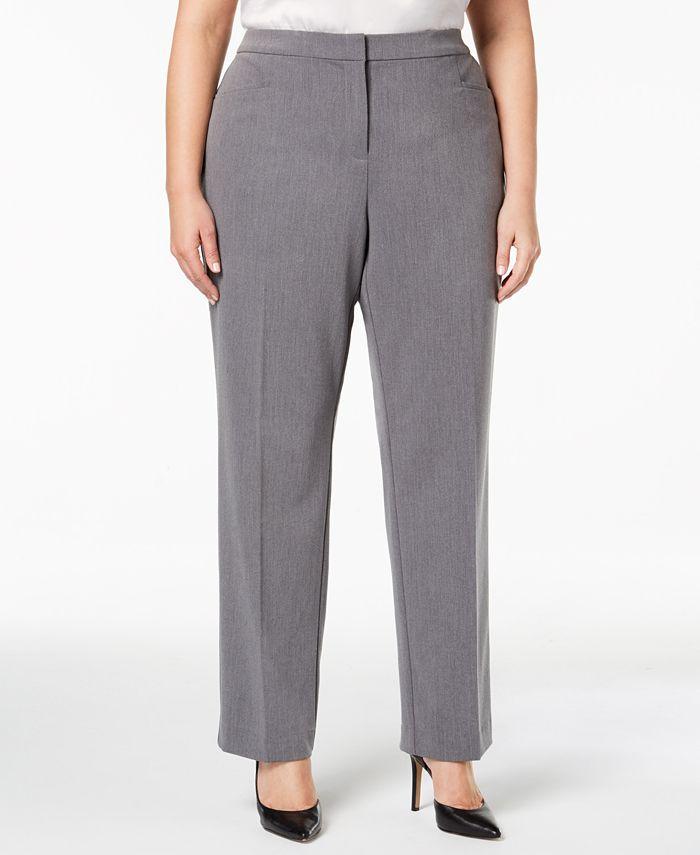 Alfani - Plus Size Straight-Leg Pants