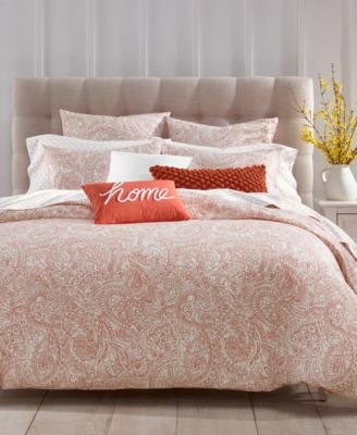 CLOSEOUT! Paisley 300-Thread Count 2-Pc. Twin Comforter Set, Created for Macy's