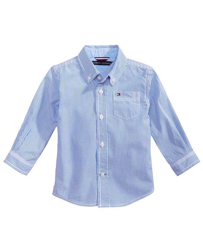 Tommy Hilfiger Baby Boys Button Down Stripe Shirt