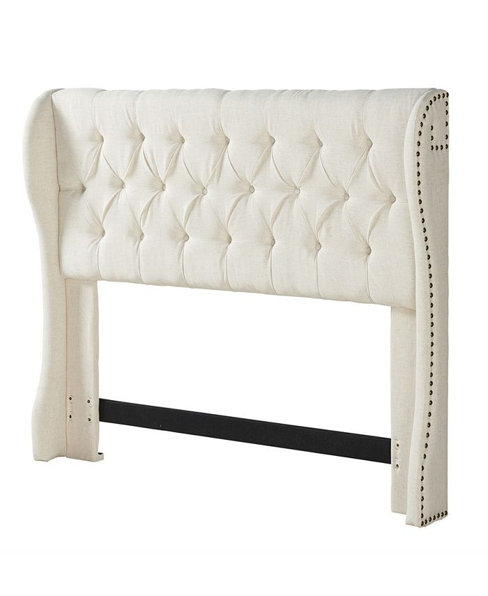 Dwell Home Inc. - Cambridge CK/EK Tufted Wing HB Cornstarch