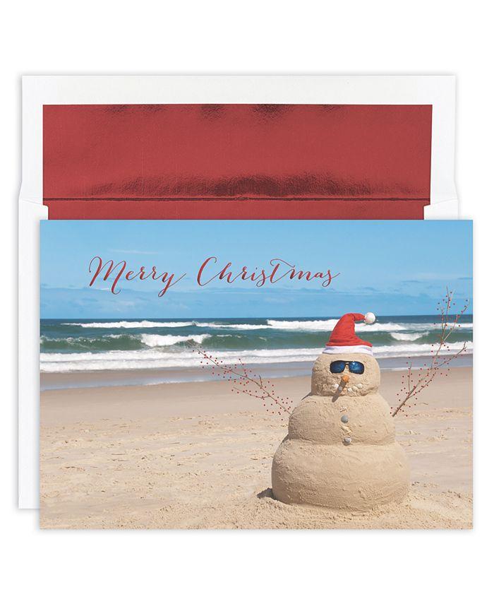 Masterpiece Studios - Beach Snowman Boxed Cards