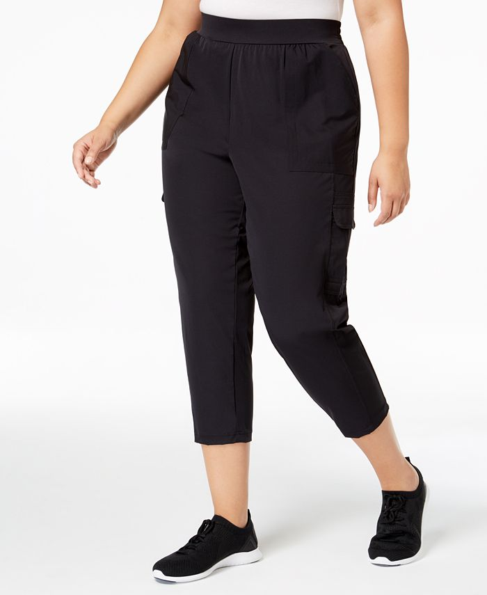 Ideology - Plus Size Cropped Woven Cargo Pants