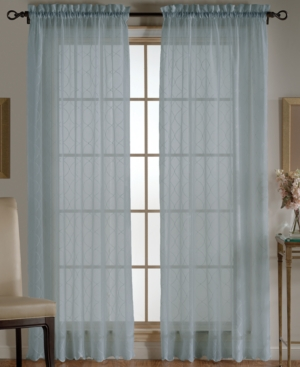 "Beacon Looms Window Treatments, Wavy Diamonds Sheer Panel 52"" x 84"" Bedding"