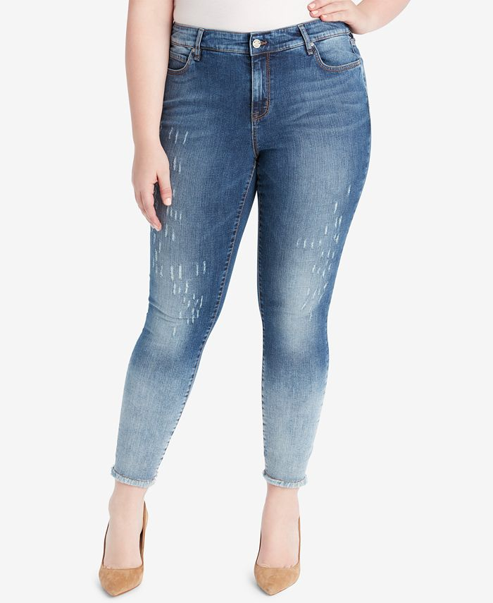 WILLIAM RAST - Plus Size Distressed Skinny Jeans