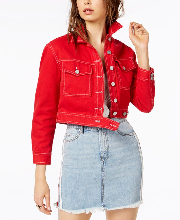 Kendall + Kylie - Cropped Cotton Denim Jacket