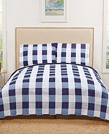 Truly Soft Everyday Buffalo Plaid King Quilt Set