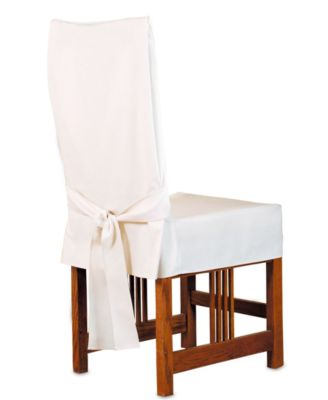Sure Fit Slipcovers, Stretch Pique Long Dining Room Chair Cover ...