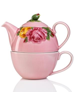 Royal Albert Dinnerware, Majolica Pink Tea Set For One