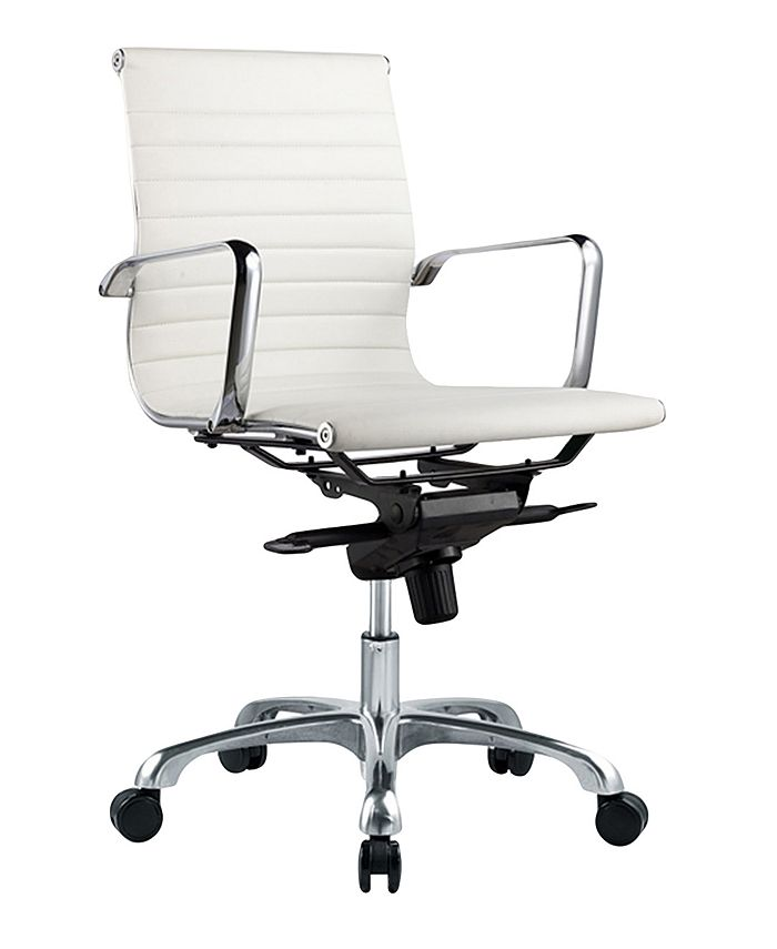 Moe's Home Collection - OMEGA OFFICE CHAIR LOW BACK WHITE-SET OF TWO