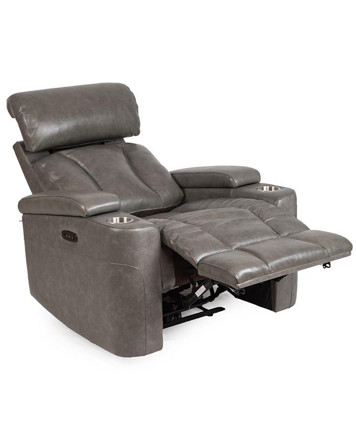 Furniture - Helston Leather Triple Power Recliner