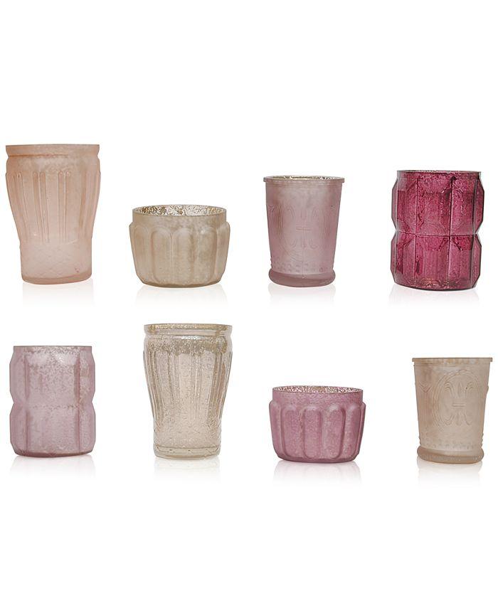 3R Studio - Mercury Pink Glass Tealight Holders, Set of 8