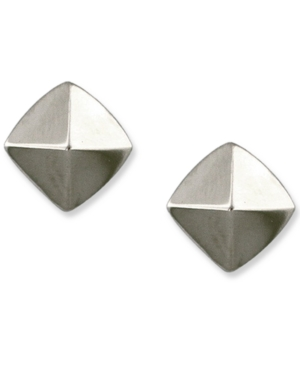 Vince Camuto Earrings, Silver Tone Pyramid Stud Earrings