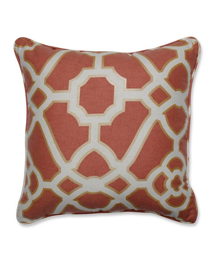 Pillow Perfect - Burnished Tile Spice 16.5-inch Throw Pillow