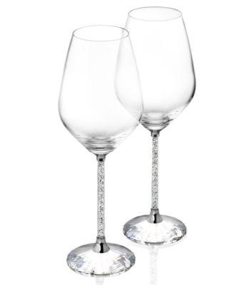 Swarovski Stemware, Set of 2 Crystalline White Wine