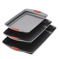 Rachael Ray Nonstick 3-Piece Bakeware Cookie Pan Set