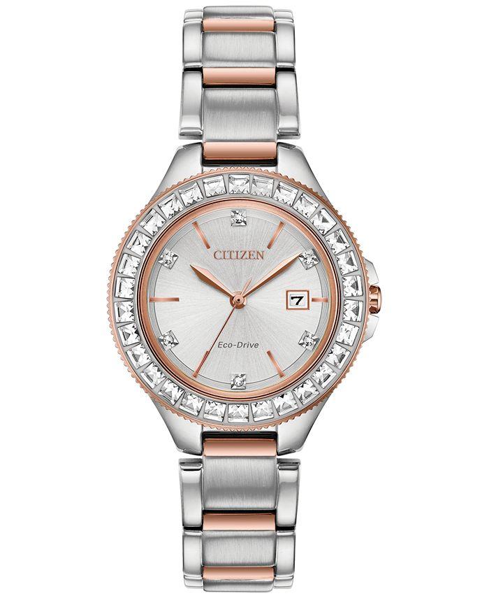 Citizen - Women's Silhouette Crystal Two-Tone Stainless Steel Bracelet Watch 31mm