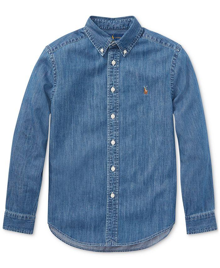 Polo Ralph Lauren - Big Boys Cotton Chambray Sport Shirt