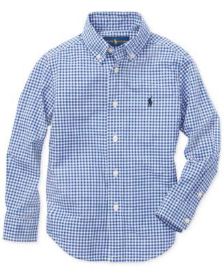 Little Boys Cotton Poplin Shirt