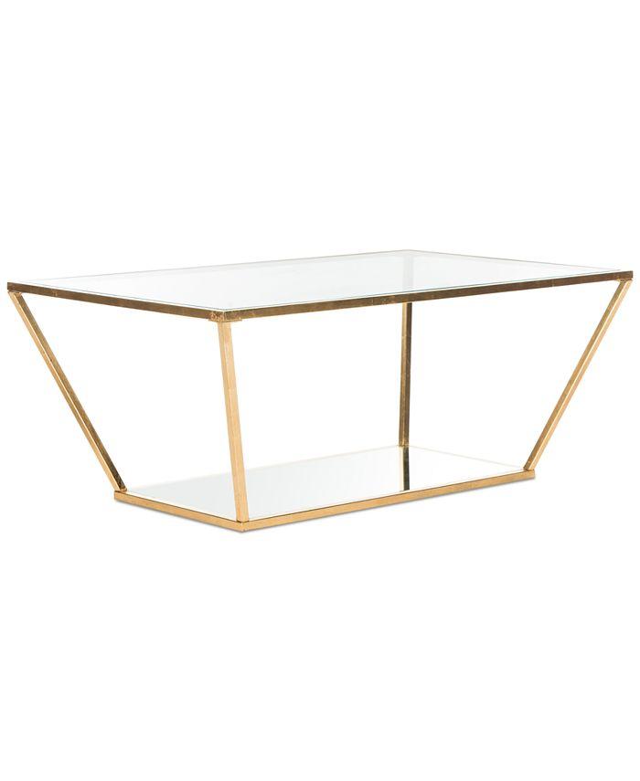 Safavieh - Allene Gold Leaf Retro Coffee Table, Quick Ship